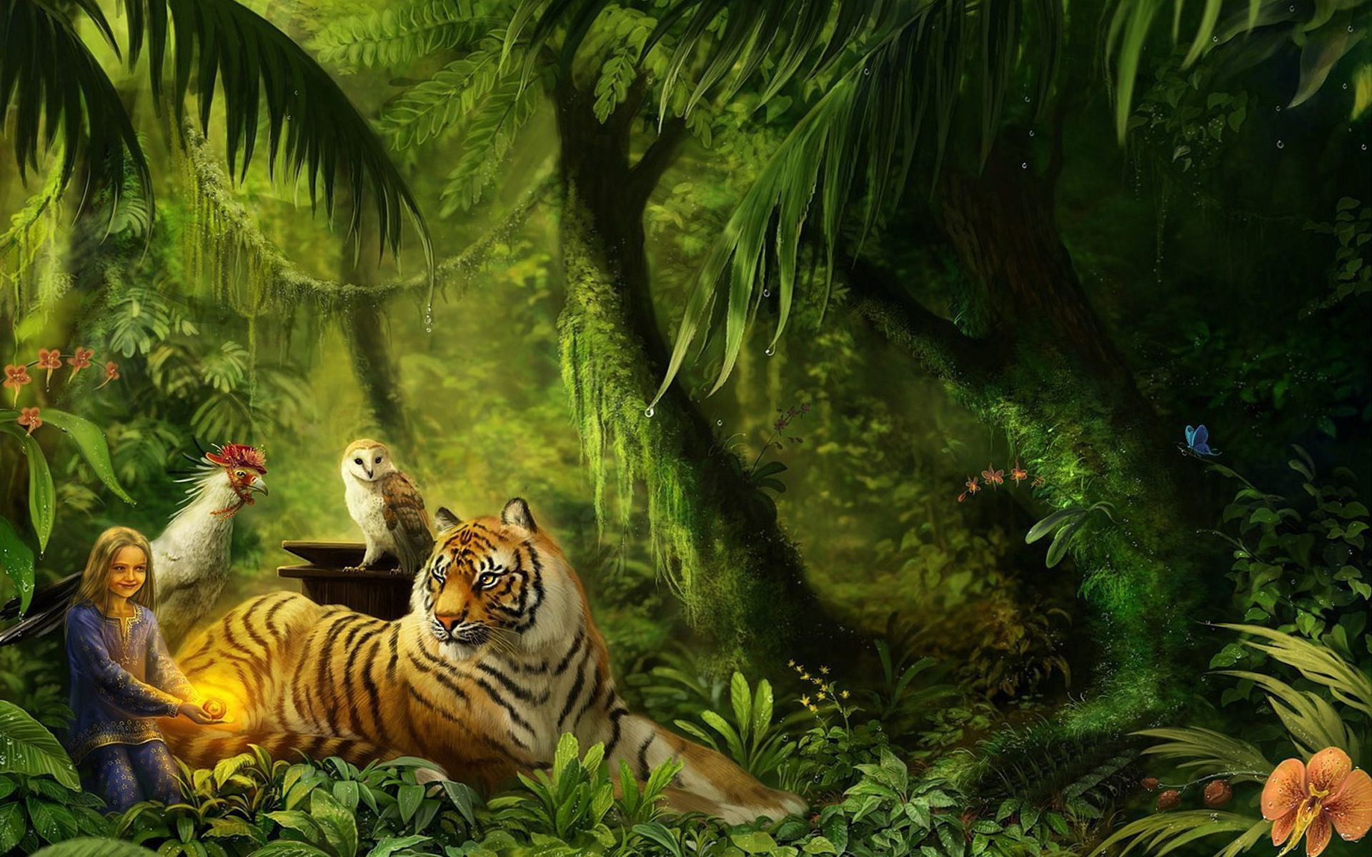 Wallpapersafari: Jungle Animal Wallpaper