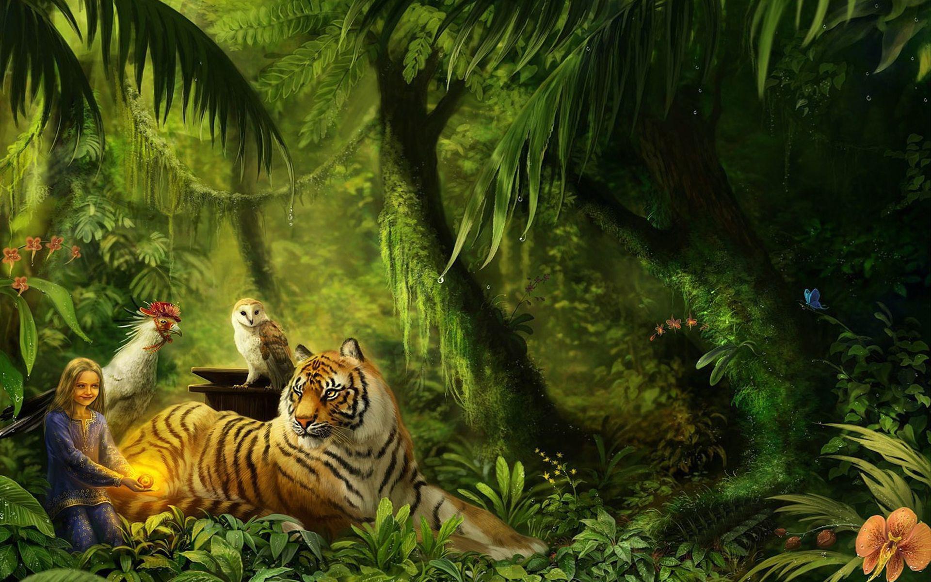 Wall Paper Mural Jungle Animal Wallpaper Wallpapersafari