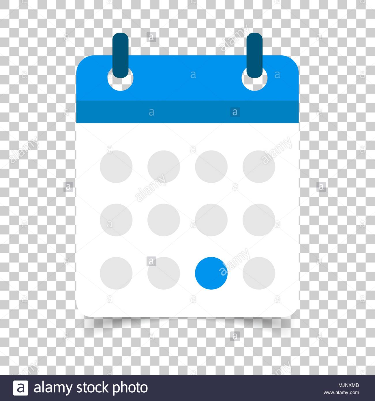 Calendar agenda vector icon in flat style Reminder illustration 1300x1390