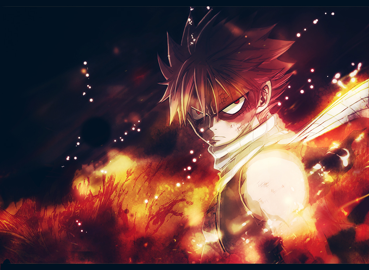 Fairy Tail Natsu Dragneel Anime Dragon Scale Flame HD Wallpaper 1280x936
