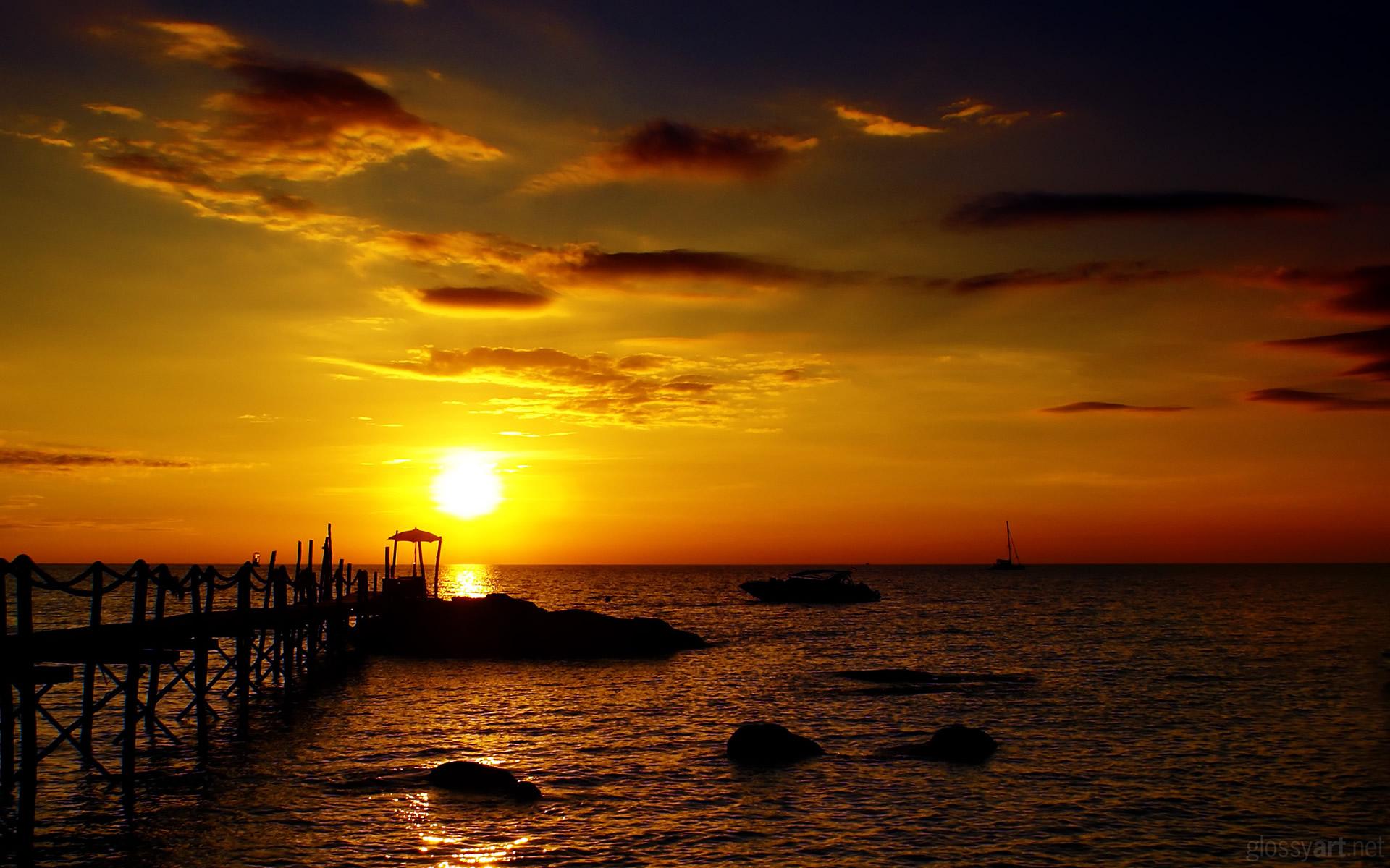 Golden Sunset HD Wallpaper | Theme Bin - Customization, HD Wallpapers ...