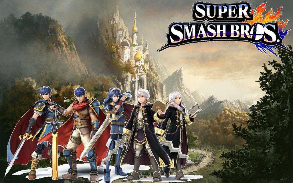 Super Smash Bros Wii U3DS Wallpapers Fire Emblem by Mariorandom57 on 1024x640