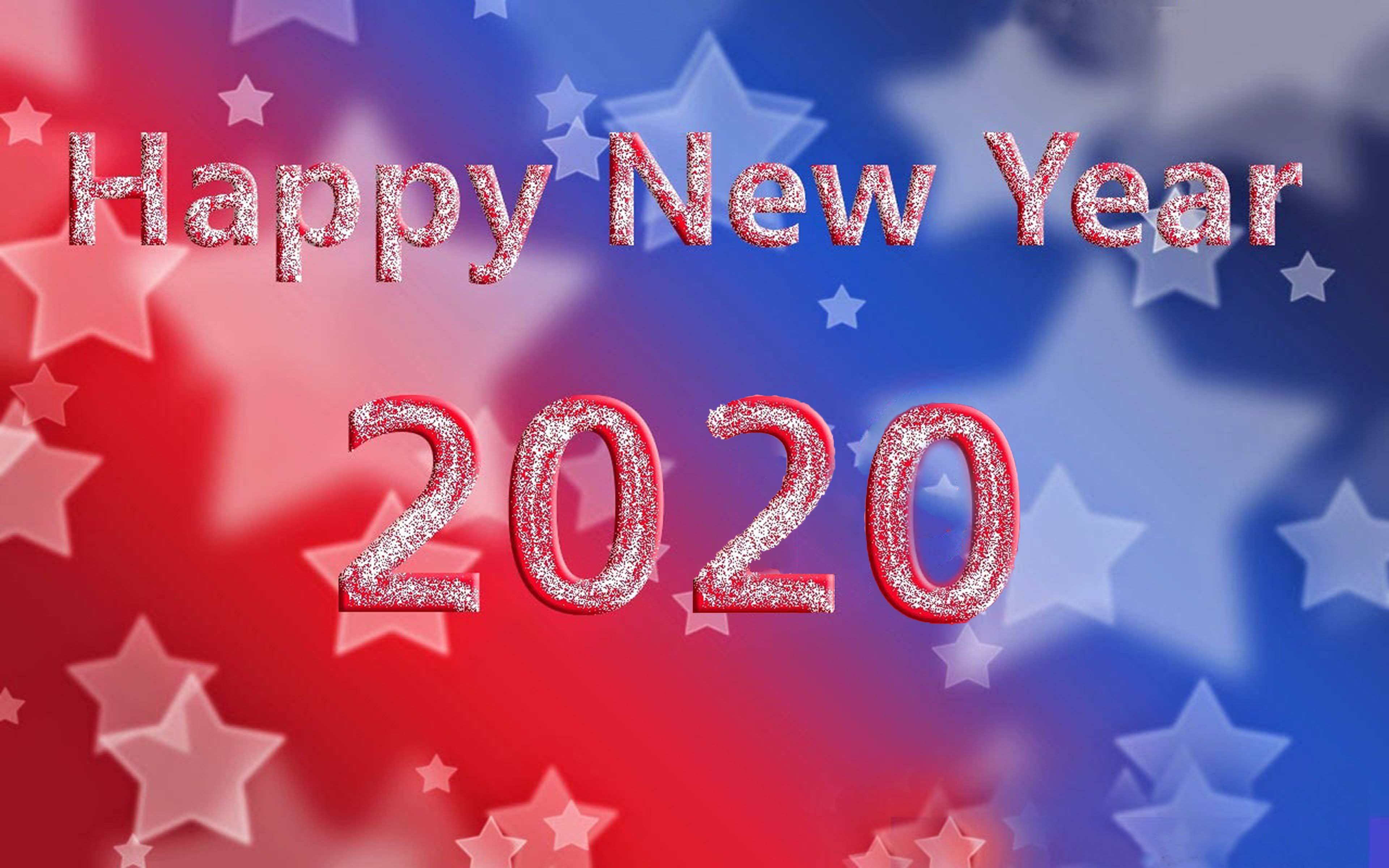 Happy New Year 2020 Greeting Card For Android Mobile Phones Hd 3840x2400