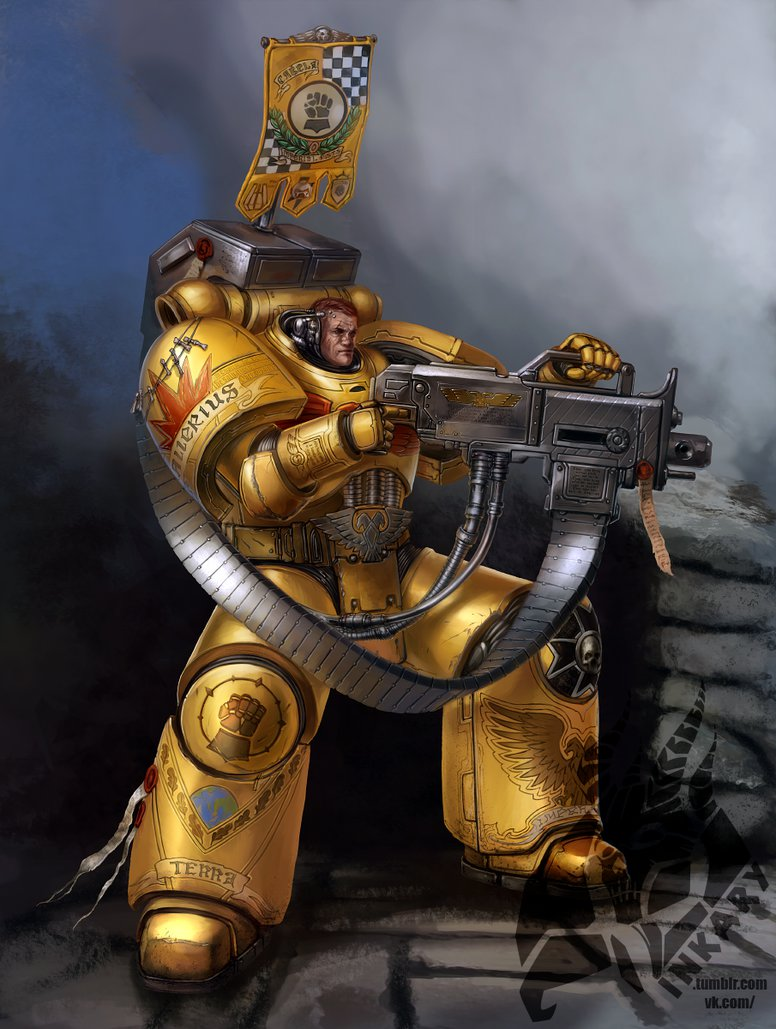 Imperial fists devastator sergeant by Inkary 776x1029