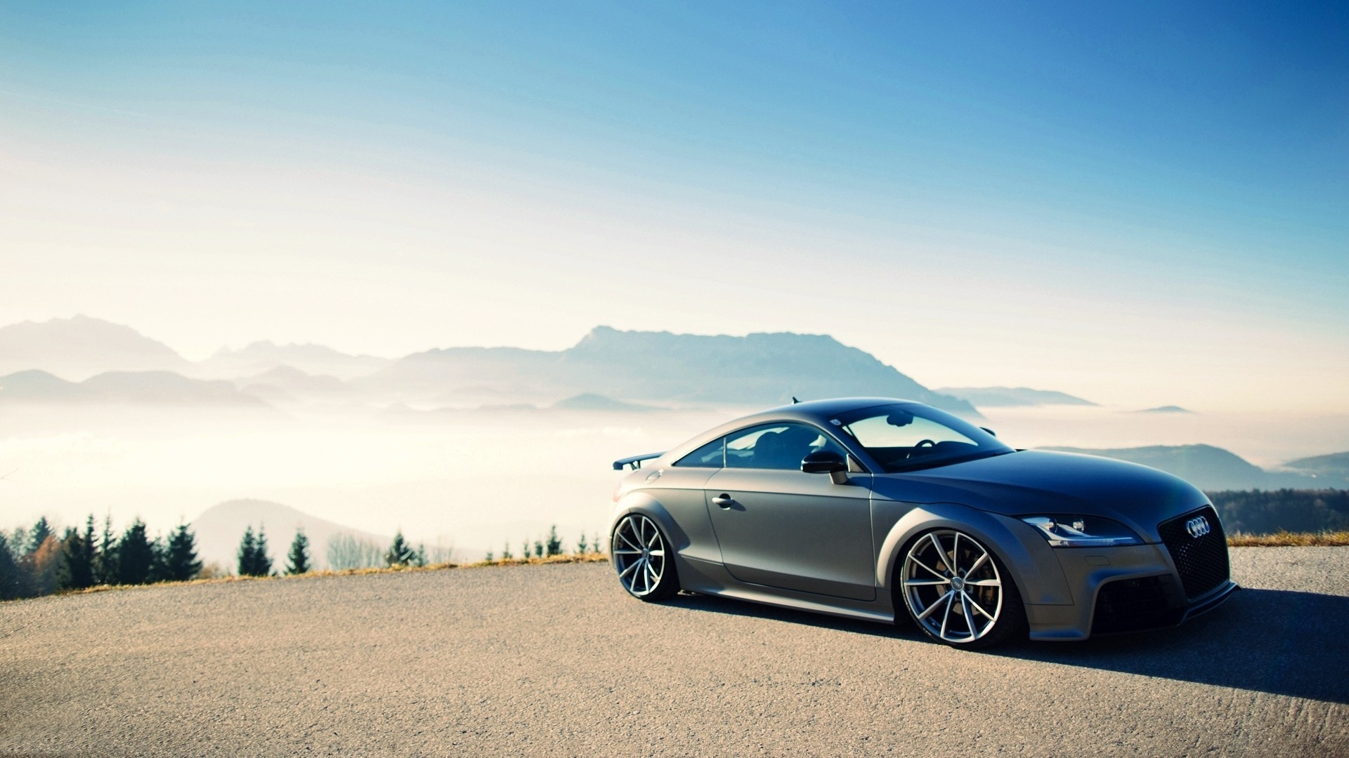 Audi TT спорткар дорога  № 3769046 бесплатно