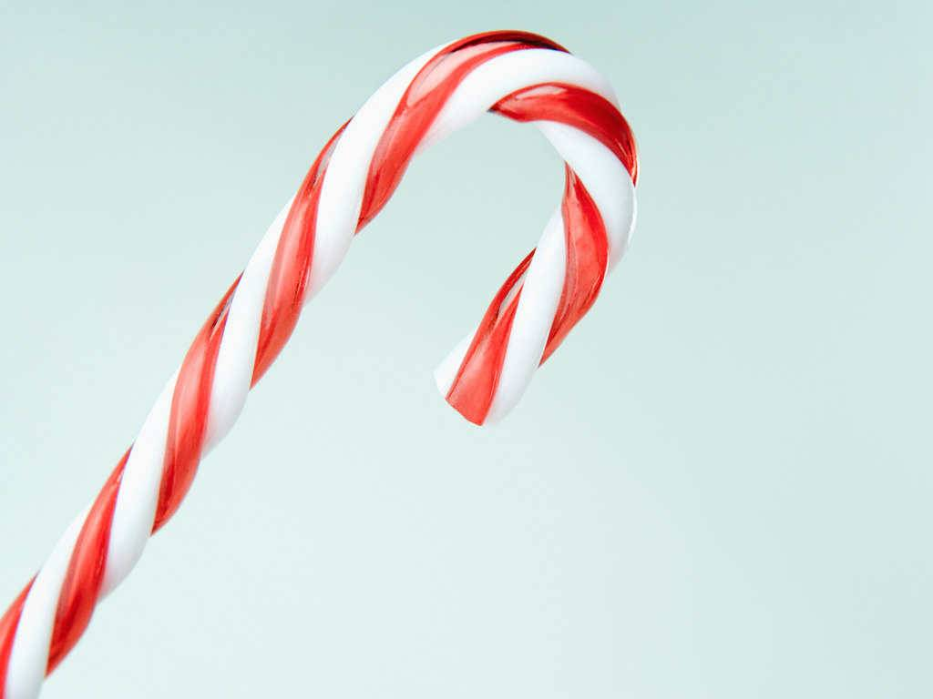 Candy Cane   Christmas Wallpaper 1024x768