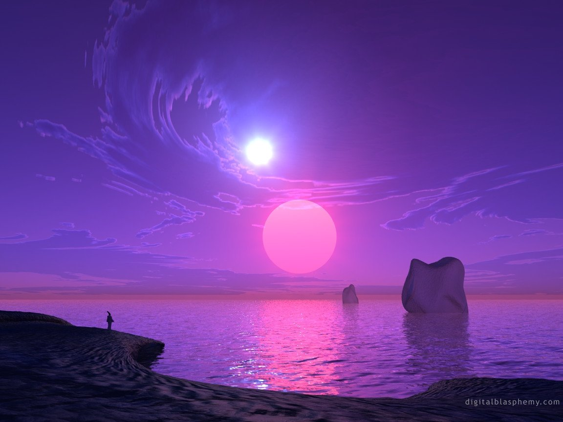 purple sunset - Purple Wallpaper (28992530) - Fanpop