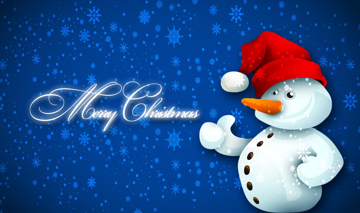 Christmas Snowman Desktop Wallpaper WallpaperSafari