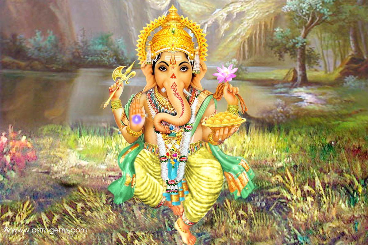 Lord Ganesha Wallpapers for Desktop Hindu God Wallpapers 1200x800