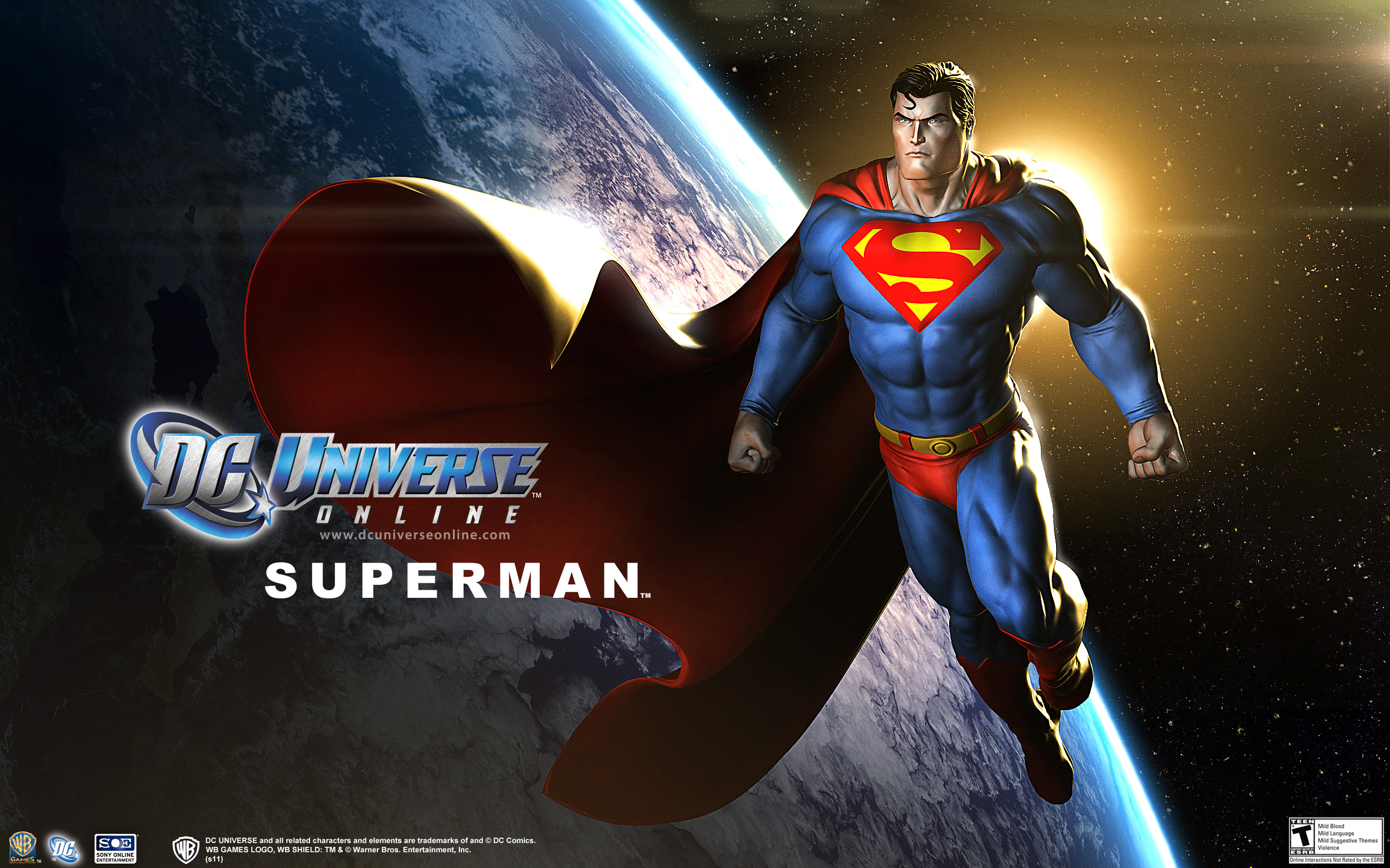 DC Universe Online Character Spotlight Superman League of Comic 2560x1600