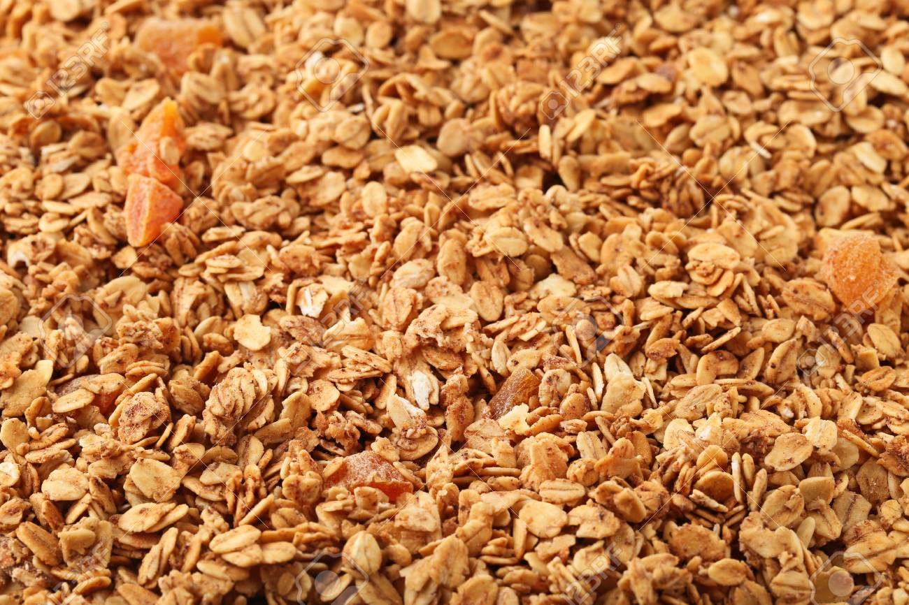 Heap Of Tasty Granola Background Stock Photo Picture And Royalty 1300x866