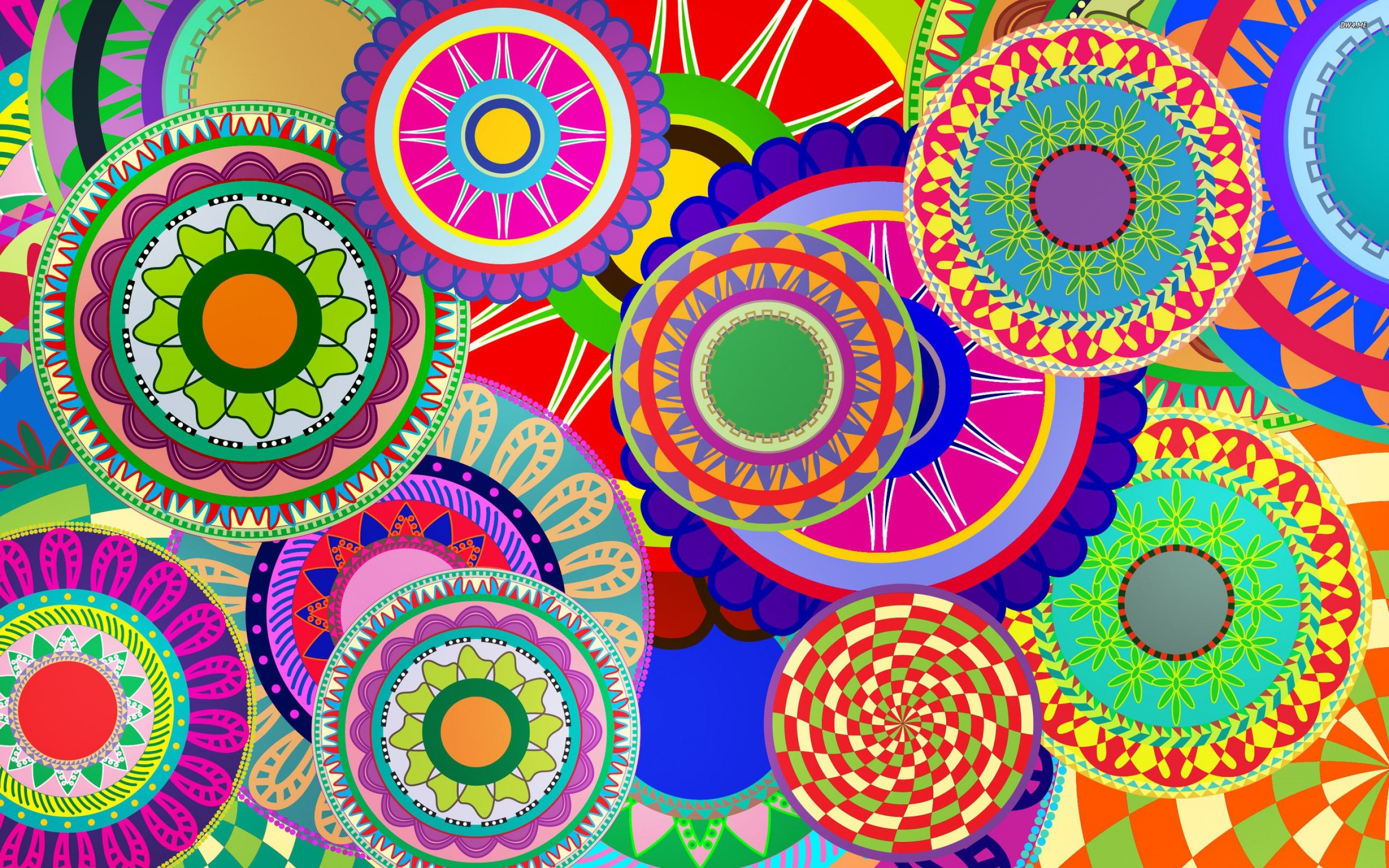 Hd wallpaper colorful - Cool Wallpapers Art With Many Colorful Circles Hd Wallpapers For