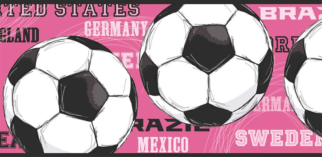 Soccer Ball Wallpaper Border