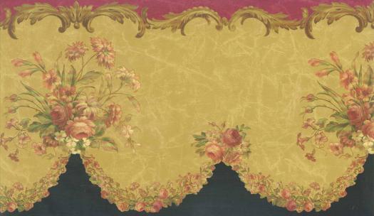 Floral Wallpaper Border 31522510B   Wallpaper Border Wallpaper inc 525x304