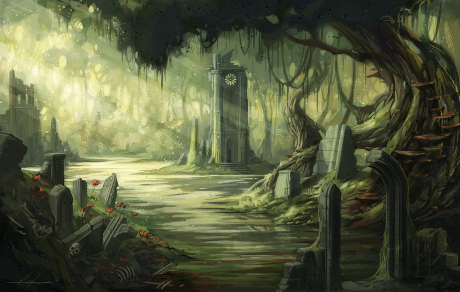 Swamp Ruins by SnakeToast 900x573