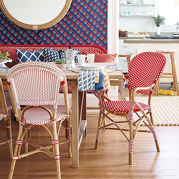 Lilly Wallpaper Design Riviera Armchair French Bistro Cafe 600x600