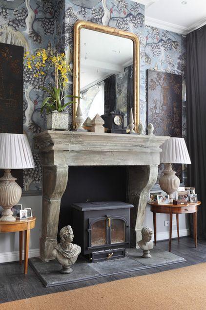 Farmhouse Living Room by VSP Interiors Home Idea Inspiration Pint 422x634