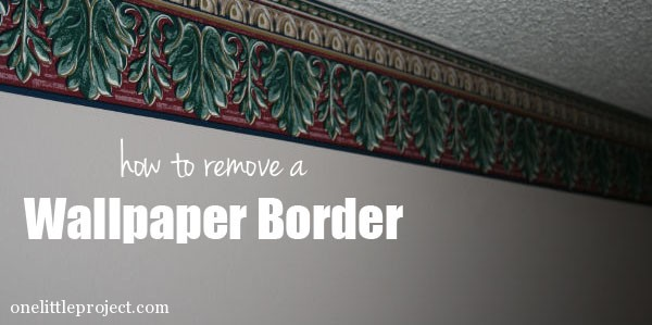 How to remove a wallpaper border 600x299