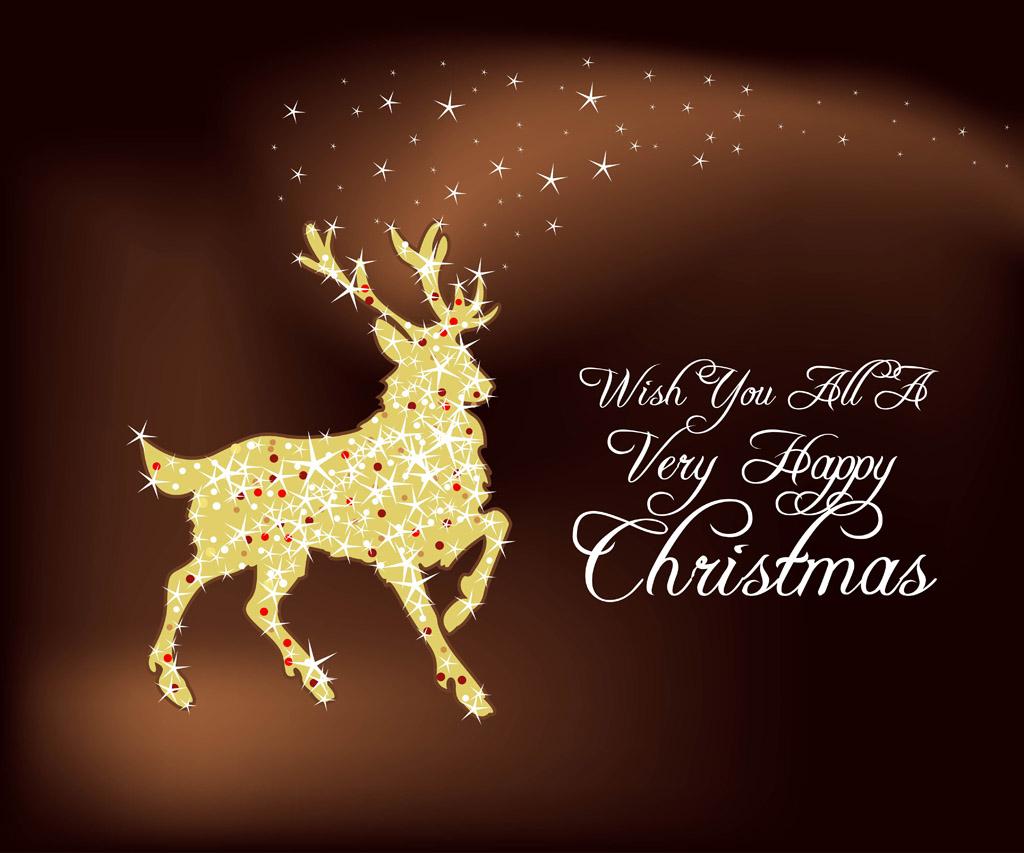 Christmas Deer Wallpaper - WallpaperSafari