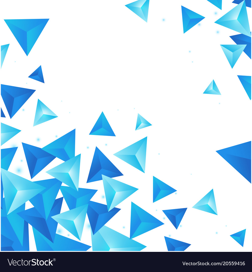 Abstract blue crytal triangle white background vec 1000x1080