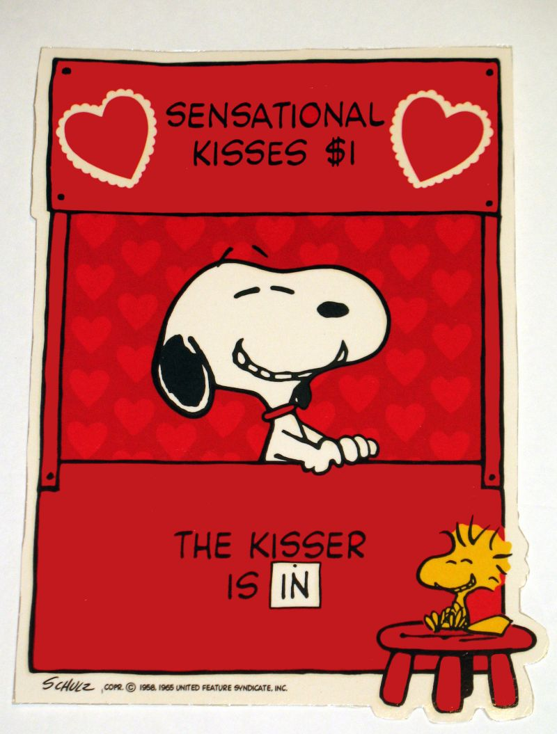 Laminated Snoopy Valentines Day Wall Decor 800x1055