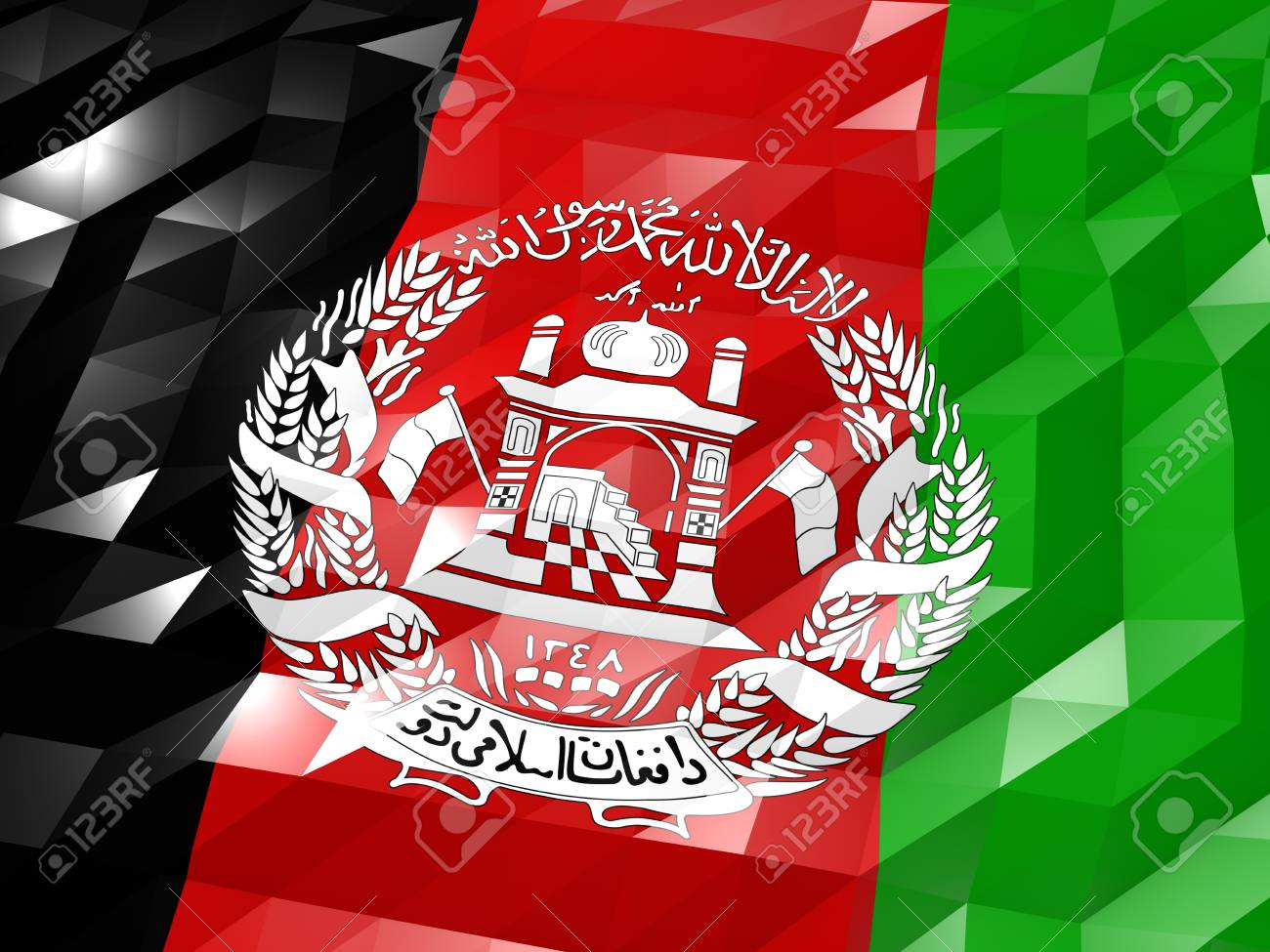 Flag Of Afghanistan 3D Wallpaper Illustration National Symbol 1300x975