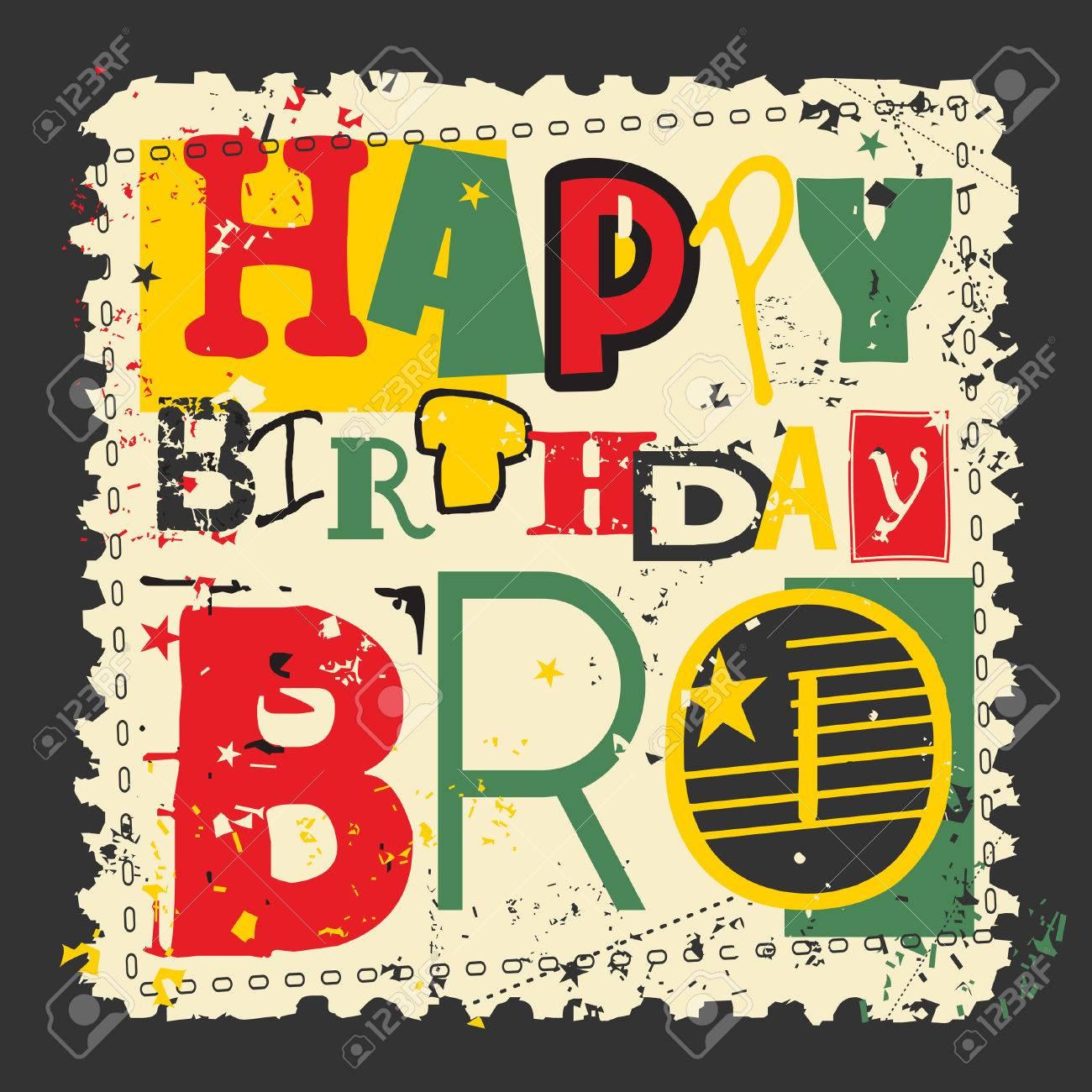 Retro Happy Birthday Card On Grunge Background Happy Birthday 1300x1300