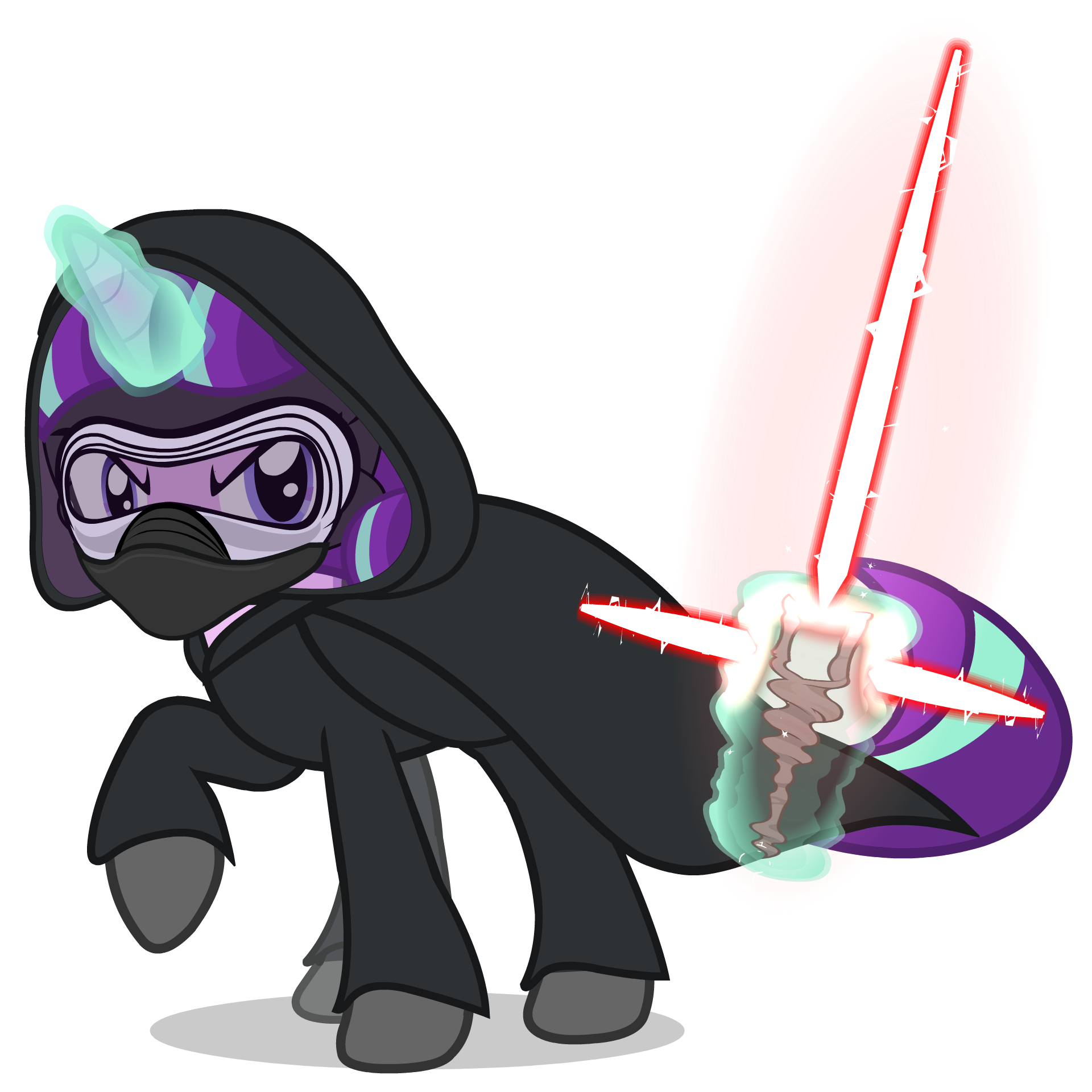 Starlight Glimmer as Kylo Ren Mask and New Saber by MrFlabbergasted 1920x1920