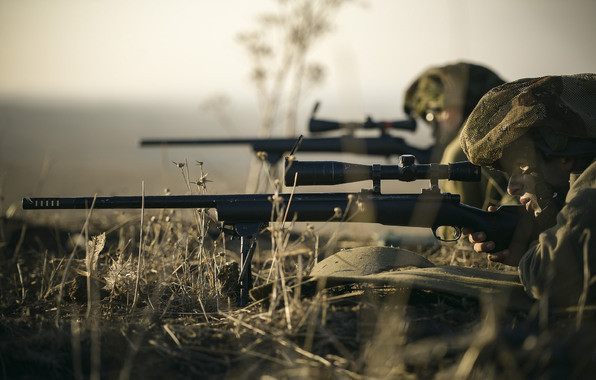 Snipers soldiers sniper rifle optics weapons grass wallpapers 596x380