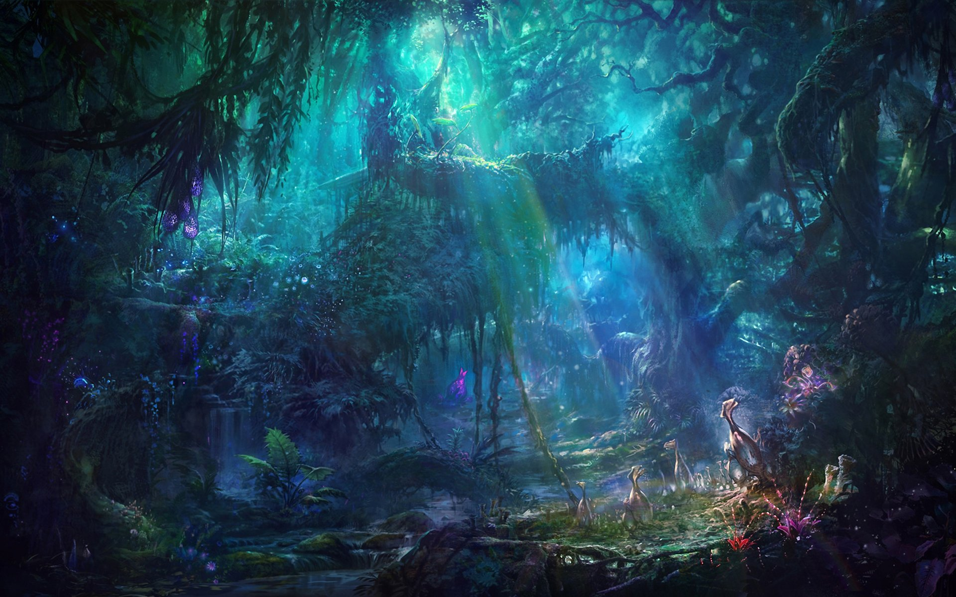 Enchanting forest Computer Wallpapers Desktop Backgrounds 1920x1200 1920x1200