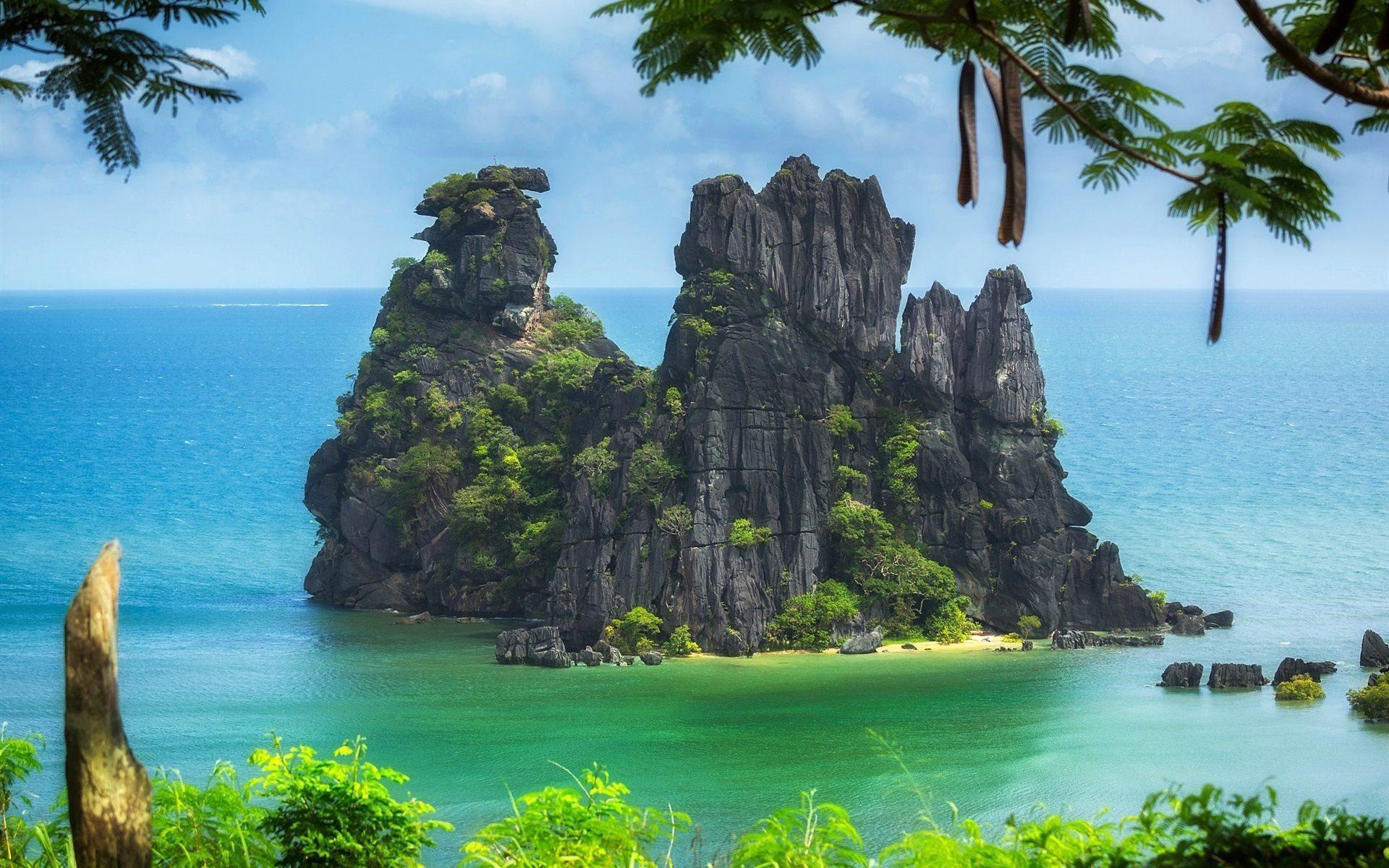 Download wallpapers South Pacific ocean tropics islands New 1920x1200