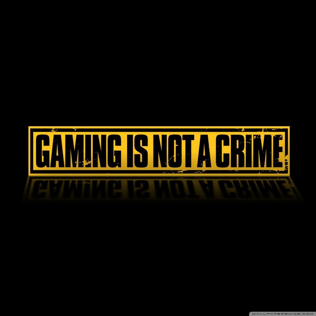 Gaming Is Not A Crime 4K HD Desktop Wallpaper for 4K Ultra HD 1024x1024