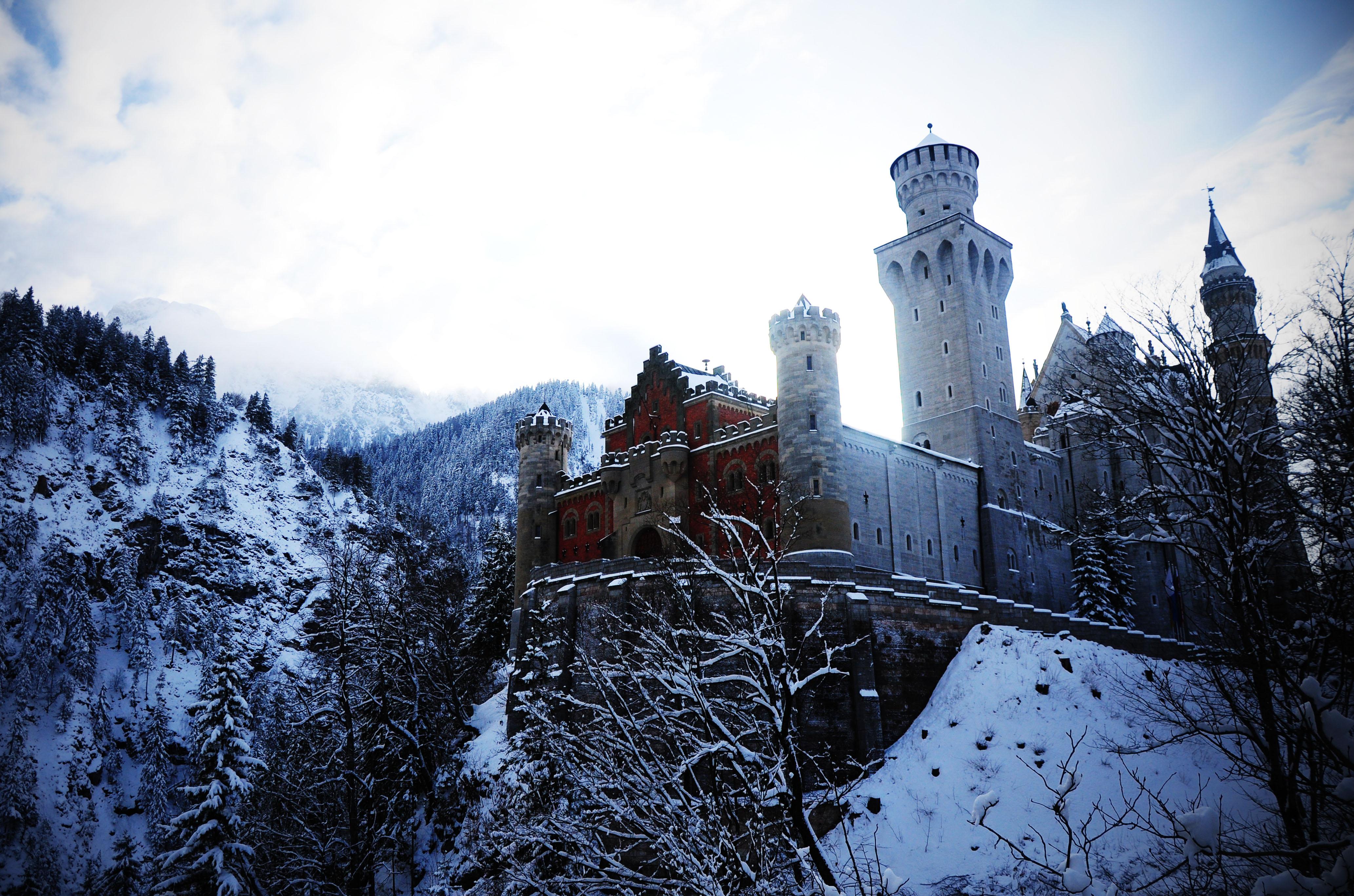Wallpaper germany bavaria neuschwanstein castle treasure alps 4132x2736