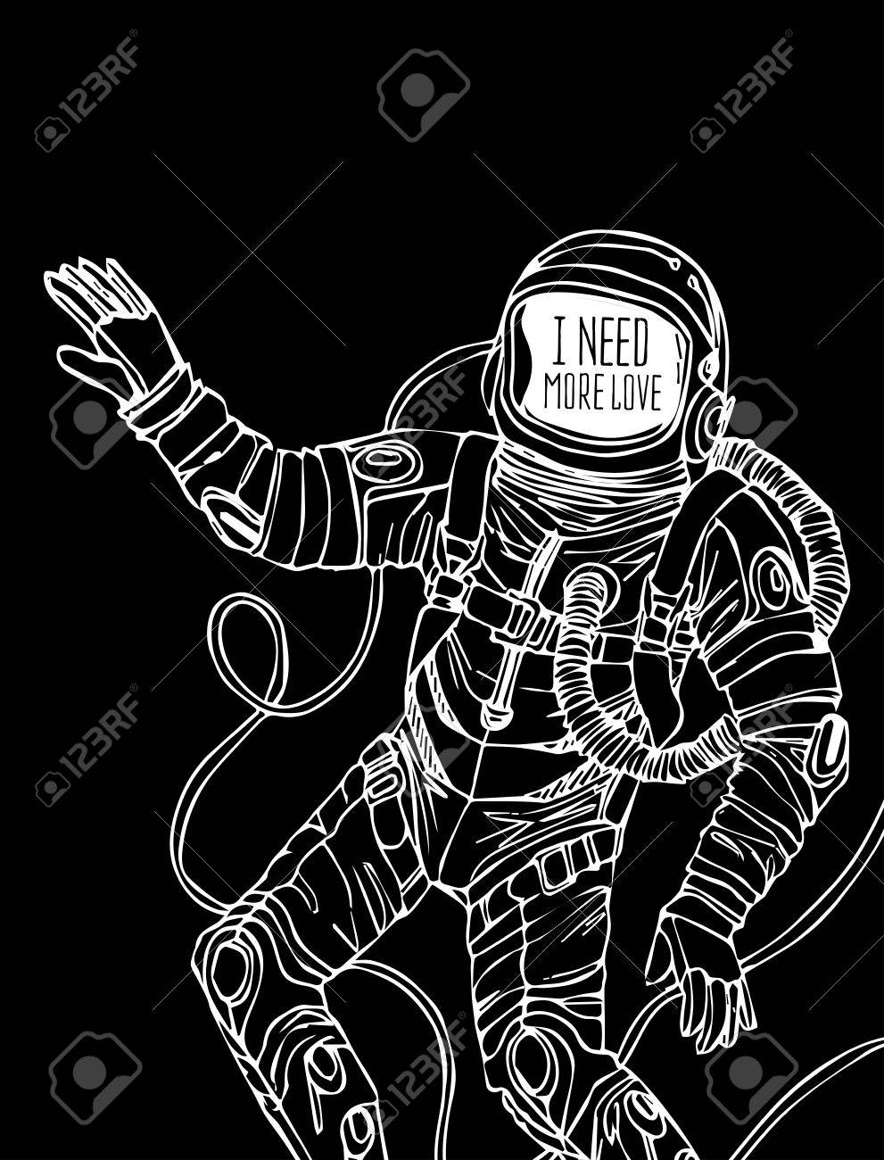 Space Concept With Astronaut And Quote Background Typography 991x1300