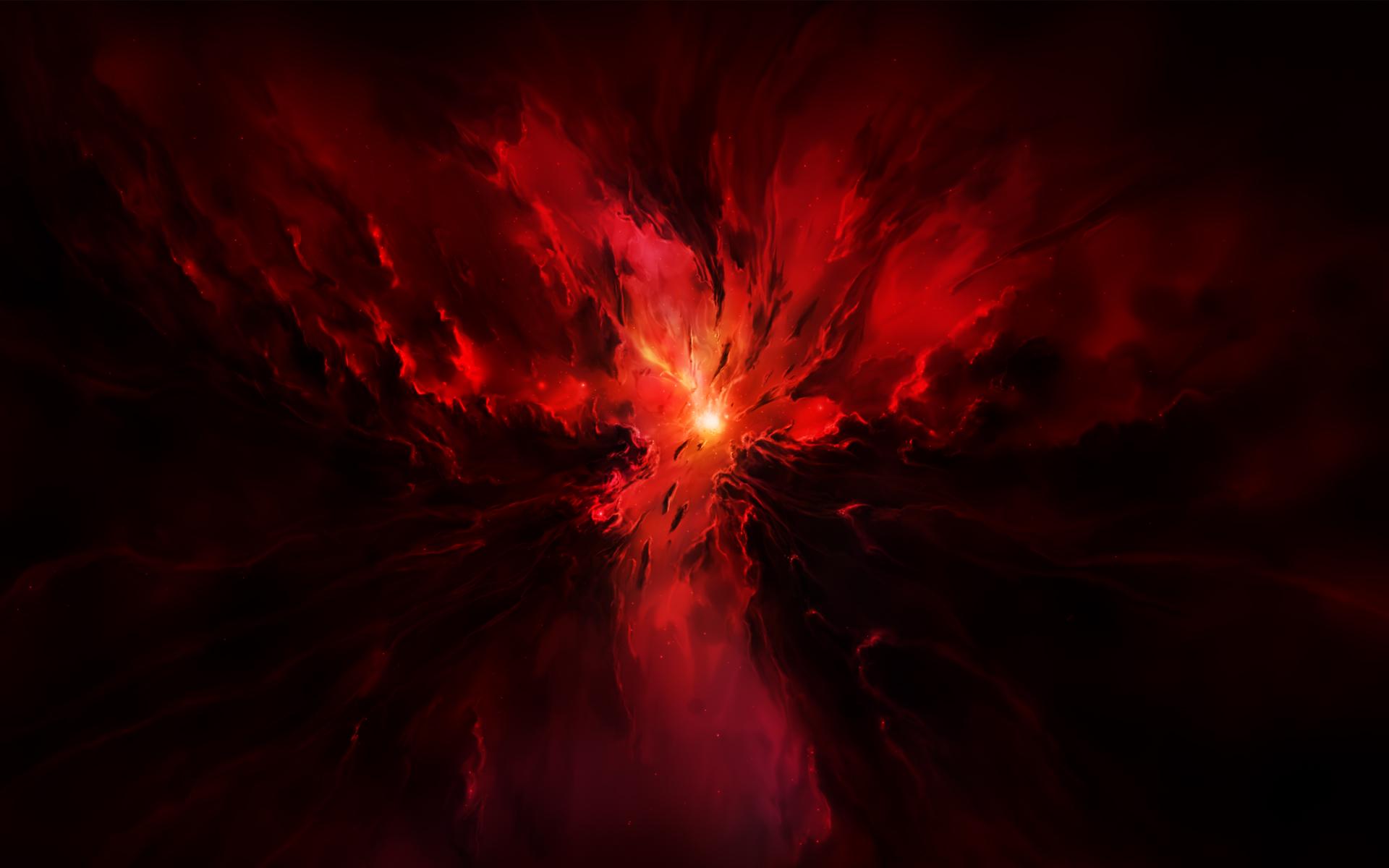 Red Space Wallpaper Wallpapersafari