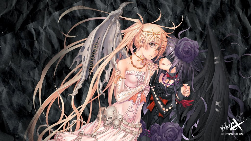 Devil And Angel Wallpaper Devil blacx angel wallpaper by 1024x576