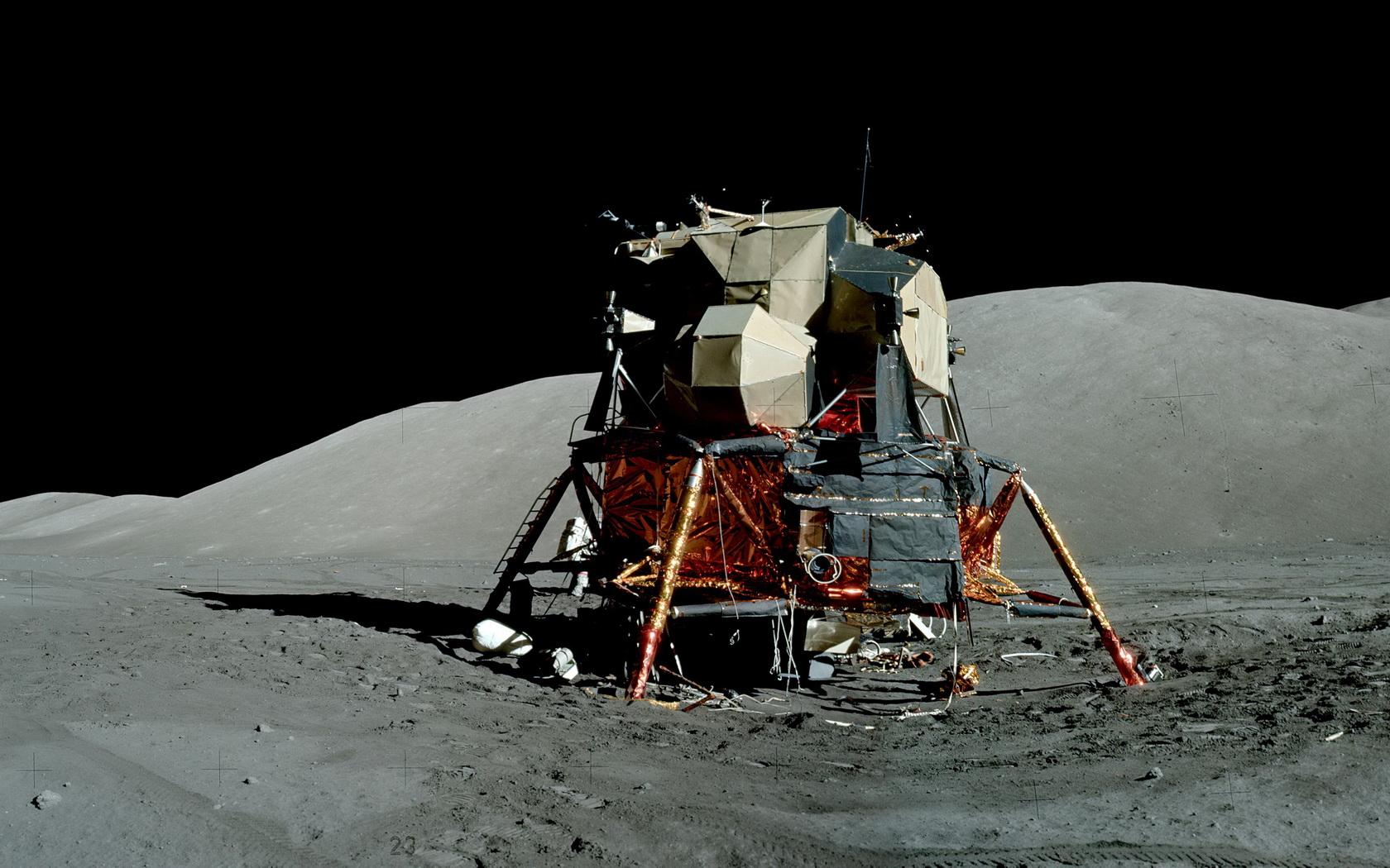 Apollo 17 Eugene Cernan LRV & LEM NASA Photo Print for Sale