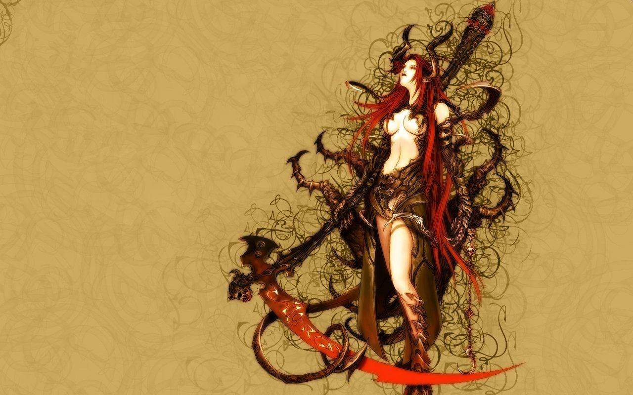 Female Warrior   Fantasy   wallpapers 1280x800