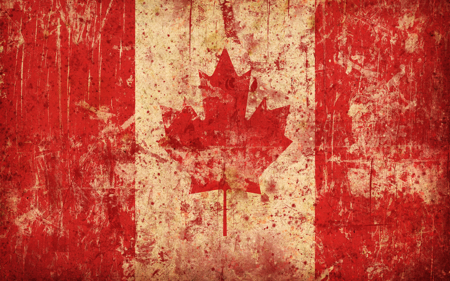 Wallpaper 1440x900 Grunge Canada Flags Maple Leaf Canadian Flag 1440x900
