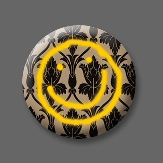 BBC Sherlock smiley face 1 inch button badge by spookyisland 149 570x570