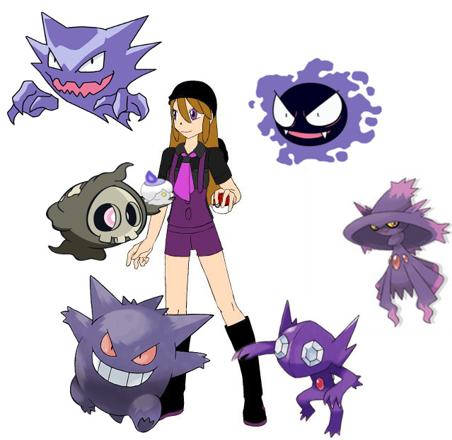 Ghost Type Pokemon Ghost type pokemon trainer 639x621
