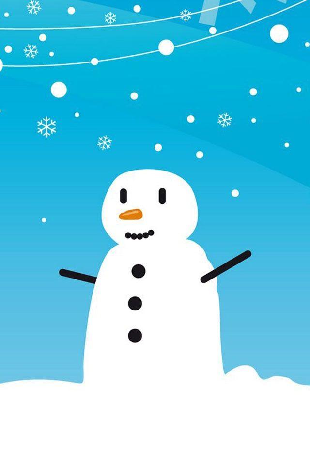 Snowman wallpaperlock screen Merry Christmas Snowman 640x960