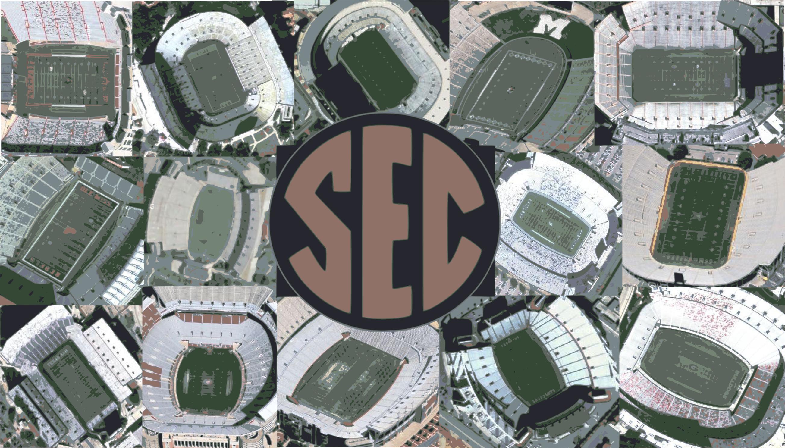 SEC Football Stadiums 2605x1487