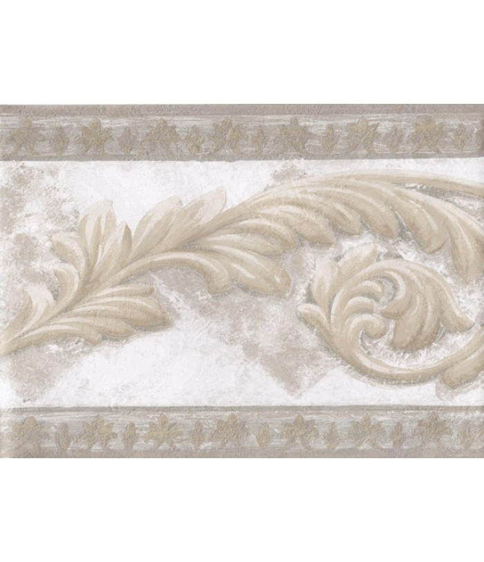 Gold Silver White Aged Stone Molding Wallpaper Border 700x812