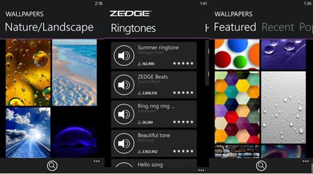 ZEDGE Ringtones Wallpapers app for Windows Phone is fresh in store 640x357