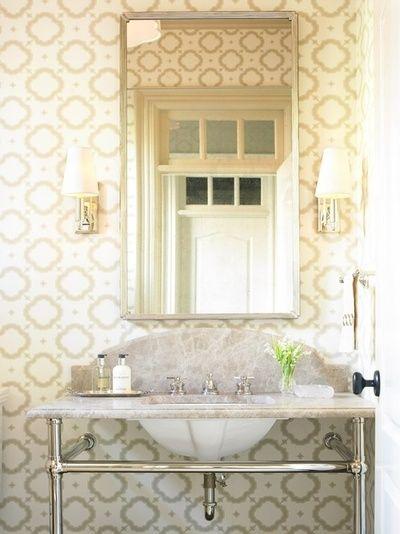 beautiful bathroom wallpaper 2015   Grasscloth Wallpaper 400x534