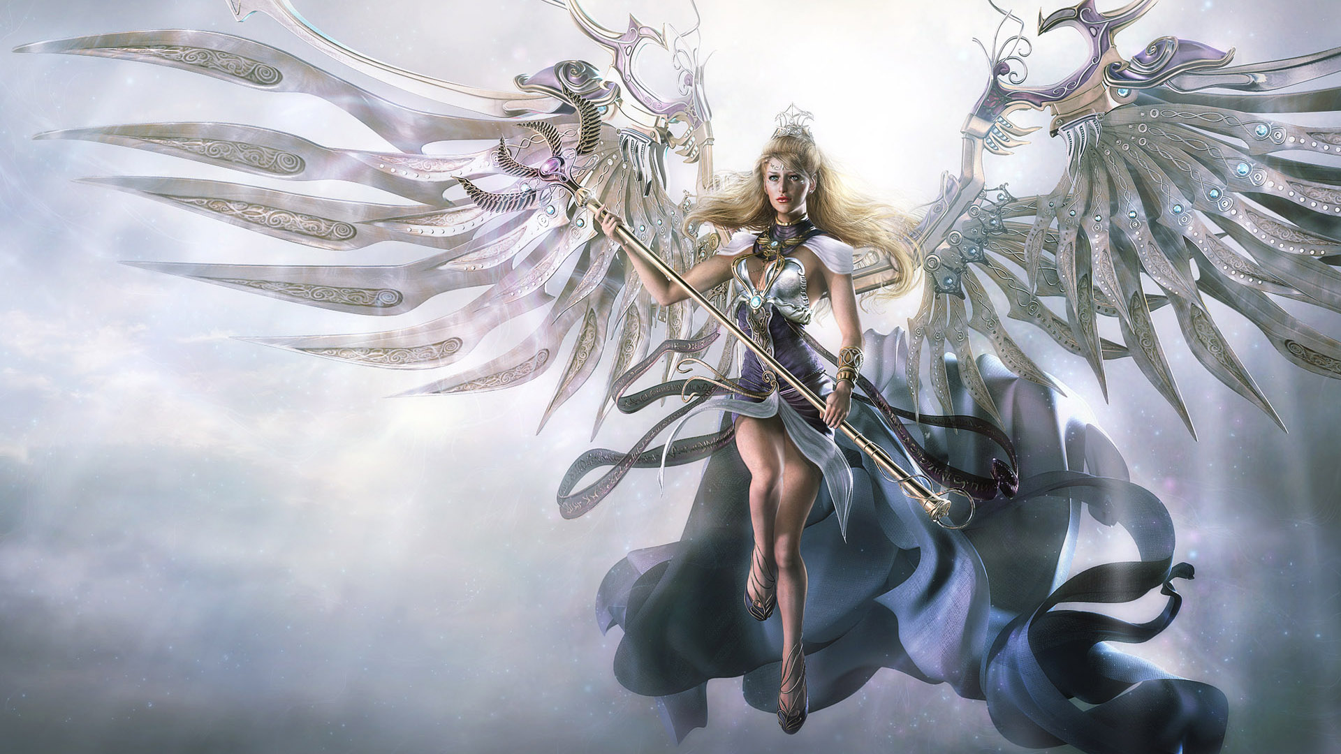 Awesome Angel 3D Fantasy Wallpaper HD Widescreen 1080p Wallpaper with 1920x1080