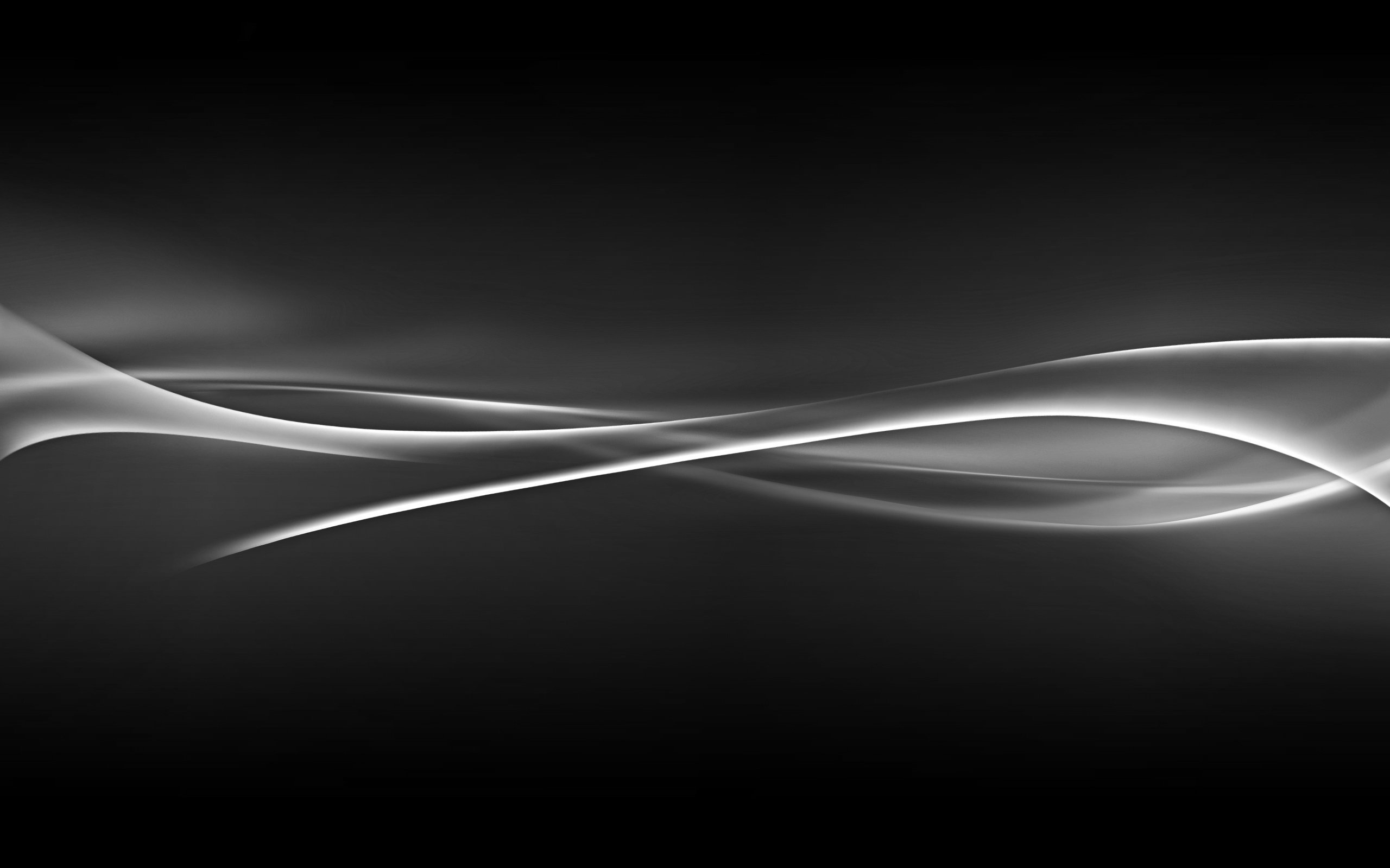 Black and white abstract swirls hd wallpaper background HD 2560x1600