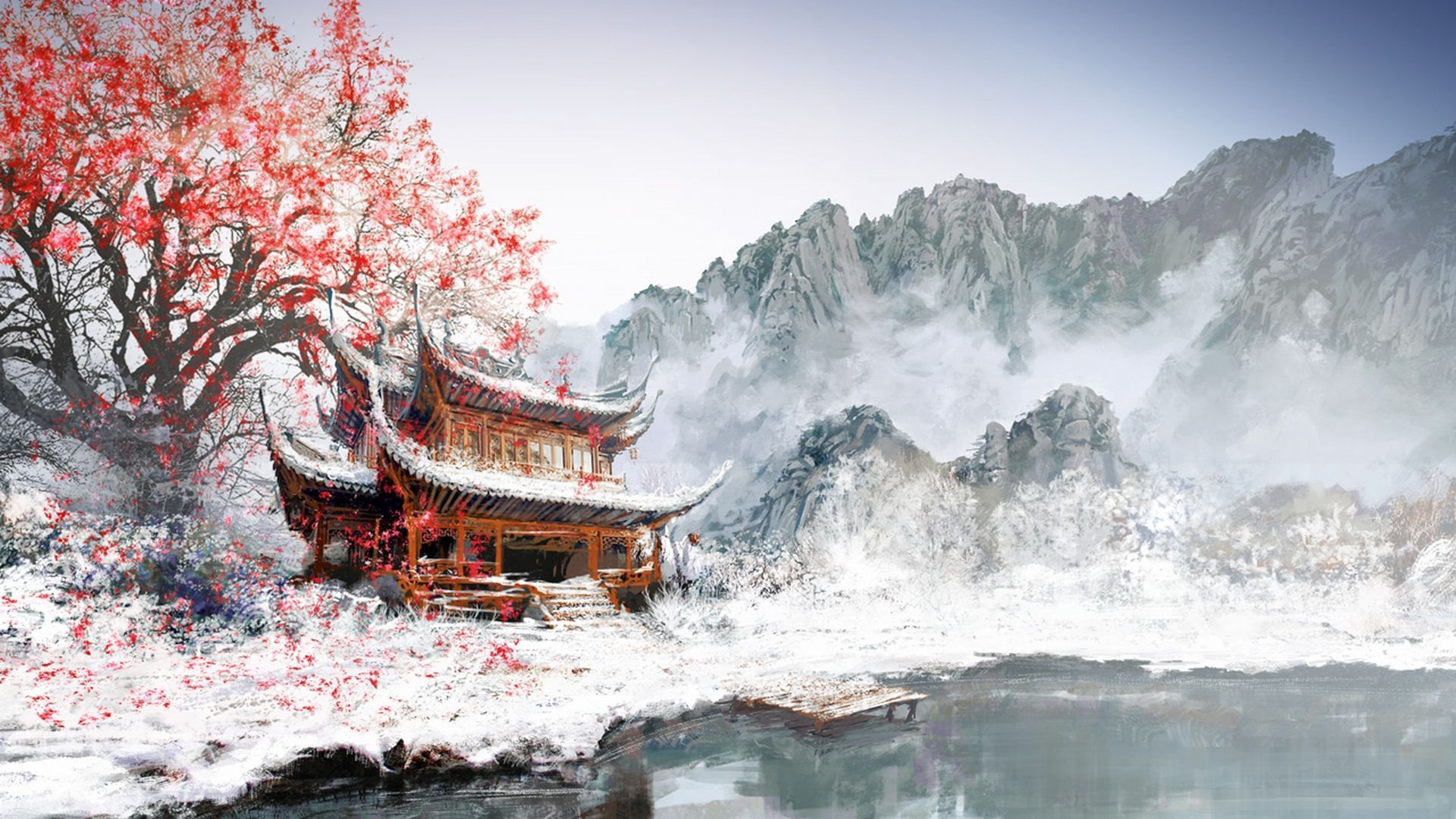 Chinese Snow Wallpapers   Top Chinese Snow Backgrounds 1920x1080