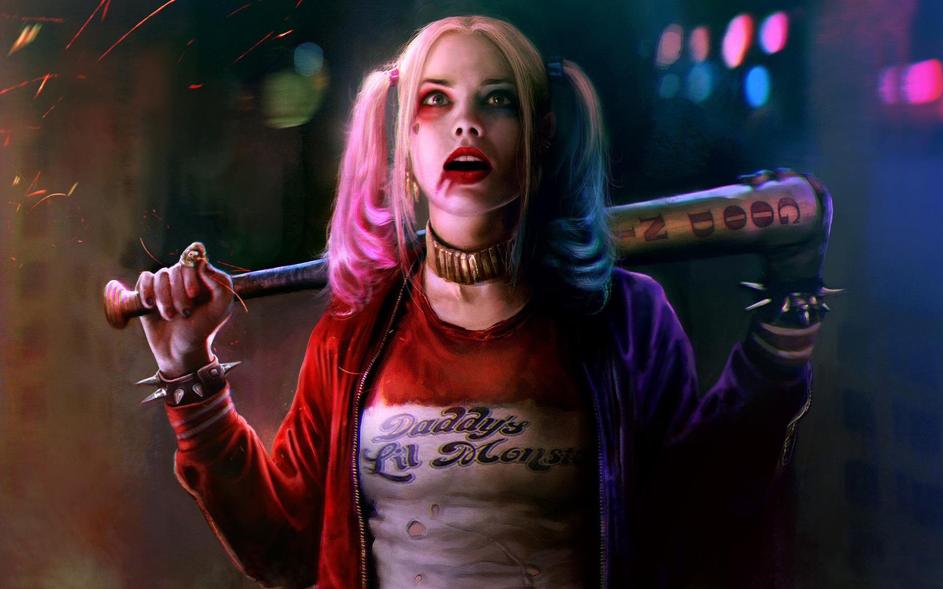 Margot Robbie As Harley Quinn Wallpaper HD Wallpapers 1920x1200